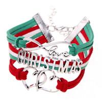 ingrosso ordine delle lettere del braccialetto-Modo caldo di vendita Carino Natale tessuto lettere mix ordine del braccialetto