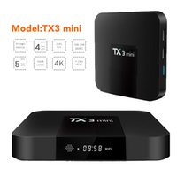 Barato Melhores Caixas De Tv Inteligentes-TX3 MINI Android 7.1 TV Box Amlogic S905W KD 17.3 2GB 16GB Set Top Box 4K 1G 8G Smart Media Player