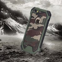 Wholesale Military Camo Case - 2017 New Military Camo Case Defender Armor Soft TPU PC Hybrid Rugged Army Camouflage Cover for Iphone 7 6S Samsung Galaxy S6 S7 edge S8 plus