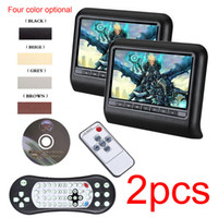 Wholesale Universal Dvd Player Remote - Wholesale- DHL 9 Inch Universal Car Headrest DVD Player with HDMI 800 x 480 LCD Screen Backseat Monitor Full Functional Remote Control