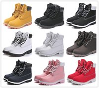 Wholesale Snow White Cake - 2016 hot cakes Waterproof yellow black snow boots vintage brand designers men women genuine leather high heel outdoor boots Size 36-45