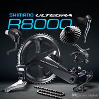 Wholesale Road Bike Carbon 53 - Ultegra R8000 50 34T 53 59T 165 170 172.5 175mm 2*11 22 Speed road bike bicycle groupset Bicycle Parts