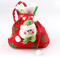 Wholesale Handmade Decoration Pieces - (3 piece)Creative Santa Claus Snowman Christmas Tree Elk Gift Bags Of Handmade Christmas Gift Bags Home Decoration For XMAS