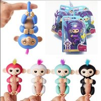 Wholesale Christmas Packaging Wholesale - Pre-sale Fingerlings Interactive Baby Monkey Finger Toys Monkey Electronic Smart Touch Sound Fingers Monkey with retail package KKA2757