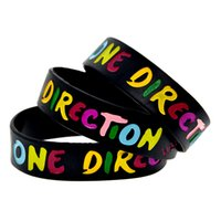 Wholesale Bracelets Harry One Direction - Wholesale Shipping 50PCS Lot One Direction Silicon Wristband Bracelet With Name: Harry, Liam, Niall, Louis, Zayn