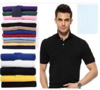 Wholesale Summer Slim Polo Shirt - 2017 new Polo Shirt Men Big small Horse crocodile tommy Camisa Solid Short Sleeve Summer Casual Camisas Men Free Shipping good quality