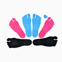 Insoles black sand beach - DHL Free Summer Nakefit Shoe Invisible Beach Pool Naked foot Yoga Pads Prezzo shoes Sand Surfing Street SPA Rocks protected soles feet pads