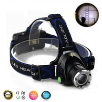 Wholesale Zoom Rechargeable LED Headlight Headlamp Waterproof XM L T6 Head Lamp Light x v Battery Charger