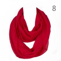 Wholesale Infinity Scarf Solid - Fashion Solid Color Women Ring Scarf Sweet Lovely Color Loop Foulard Femme Hijab Infinity Echarpe Shawls RO1750314