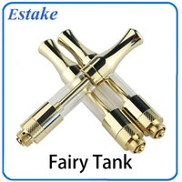 Wholesale Metal Fairy - 2017 Newest C BD tank glass Gold ceramic coil wickless oil cartridge 510 cartridge glass VS newest glass 510 cartridge fairy tank 0266120-1