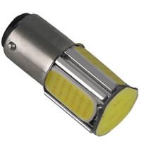 ampul çevirme toptan satış-Beyaz 1157 BAY15D 4 COB LED Fren Dönüş Sinyali Arka Işık Araba Ampul Lamba