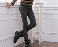 Wholesale Cotton Tie Dye Leggings - Wholesale- 2015 winter elastic warm female skinny jeans pencil pants plus large size women velvet thickening casual denim leggings XXXXXL