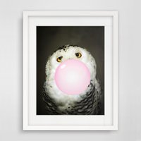 Wholesale Bubble Posters - Kawaii Owl Bubble Nordic Animal Canvas Painting Art Print Poster Wall Picture Room Decor No Frame