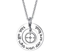 Wholesale Wholesale Jewelries - men women famouse necklace jewelries compass pendant necklace wholesale high quality hot selling choker necklaces pendant