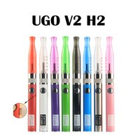 Wholesale Ego V Battery Kit - UGO V II H2 Vape Pen Starter Kit Ego 510 Thread With Mirco Usb Electronic Cigarette 650 900mAh Battery Multi Colors