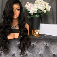 Wholesale Unprocessed Virgin Human Hair Wigs - Brazilian Virgin Hair Wavy Full Lace Human Hair Wigs 150% Density With Baby Hair Natural Hairline Lace Front Wigs Unprocessed Glueless