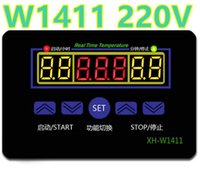 Wholesale Household Thermostat - Digital Thermostat control W1411 220V switch temperature thermometer controller Start stop value with waterproof probe