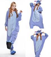 Wholesale Woman Bear Costume - Free Shipping Lovely Cheap Easily Bear Kigurumi Pajamas Anime Pyjamas Cosplay Costume Adult Unisex Onesie Dress Sleepwear Halloween S M L XL