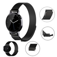 Barato Metal Fivela Pulseiras Relógio-Samsung Gear S3 Correias de relógio Smartwatch Band Aço inoxidável Metal Strap Replacement Buckle Strap New Arrival Wrist Band Retail Package