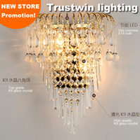 2020 Classic Crystal Chandelier Wall Light Gold Crystalline Wall Sconce Lamp LED Foyer Living Room Bedside Glass Crystal Wall Lamp From Wuzhangtsai,