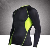 Wholesale Spandex Under Clothes - Fourth Generation Compression Under Base Layer T-Shirts Athletic Long Sleeves Sleeve Sports Body Armour Men Fitness Gym Clothing Tshirt