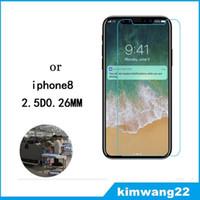 galaxie s3mini großhandel-Für iphone 8 displayschutzfolie gehärtetes glas für iphone8 handy schutz 9h härte displayschutzfolie mit kleinpaket
