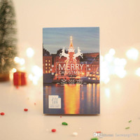 Wholesale Photography Greeting Cards - 30 pcs box Christmas Eve Europe US photography New Year greeting card postcards message card blessing Gift cards Free shipping