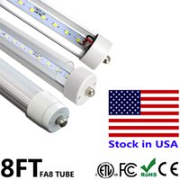 Wholesale Nature Shopping - 8 ft LED Light Bulb T8 Tubes Lamp Single Pin FA8 45W 8ft Repalcement Fluorescent Shop Light Bulbs SMD2835 AC85-265V Stock In US