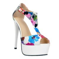 ingrosso sbirciare le donne sexy dei sandali di modo-Kolnoo Womens Fashion Handmade 14cm tacco alto Peep Toe piattaforma sexy sandali sexy bianco XD04301