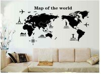 Wholesale Television Sofa Package - PVC 120x60cm Creative personality world map pattern wall stickers living room bedroom TV sofa background decoration stickers