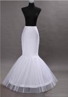 Wholesale White Lycra Dresses - 2017 Mermaid Petticoat slip 1 Hoop Bone Elastic Wedding Dress Crinoline Trumpet Wedding Dresses Online White