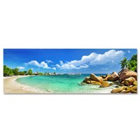Wholesale Home Decoration Images - ARTPIONEER seascape landscape image modern Home Wall Decor Art Print canvas wall decoration HD Photographic works of beach