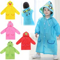 Wholesale 5PC Kids Rain Coat Children Raincoat Rainwear Rainsuit Kids Waterproof Animal Raincoat Student Poncho