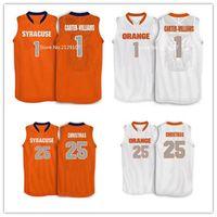 Wholesale Christmas Hockey Jersey - Cheap #25 Rakeem Christmas Michael Carter Williams #1 Syracuse Orange basketball jersey orange, white, stitched name and number