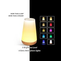 Wholesale Floor Lamp Plastic - High Quality Wireless Bluetooth Speakers Colorful Touch LED Light Lamp Hands-free Call TF Card Music Player Bluetooth Mini Speaker