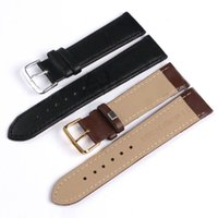 Atacado-4 cores Unisex Homens Senhora Watchband Faux Genuine Tablet PU Leather Watch Strap Band Metal Buckle