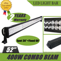 52 Inch 400W 100 LEDs Super Bright LED Trabalho Luz Bar Spotlight 30 ° Floodlight 60 ° Combo Beam 4x4 Veículos Offroad SUV ATV Boat Truck Jeep
