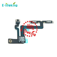 Wholesale Iphone Volume Replacement - Volume Control Button Mute Flex Cable Ribbon Replacement For Iphone 6 4.7 and 6 Plus 5.5 Free Shipping