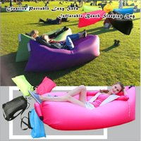 Sacco a pelo gonfiabile unico 10s Tempo libero Sdraio Hang out Air Camping Divano Beach Hammocks Party Decor