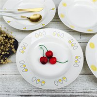 ECO Friendly special desserts - Special Offer inch Ceramic Deep Creative Plate Restaurant Kitchen Tableware Cake Dessert Fruit Breakfast Dish Pratos JSF Dishes