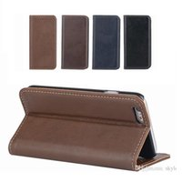 Wholesale Vintage Style Iphone Cases - Iphone 6 6s Vintage Style PU Leather Case Kickstand Flip Wallet Case With Card Slot For Note 5 S6 edge plus 100pcs