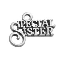 special sister gifts - Personalized Design Metal Tibetan Silver Plated Letters Special Sister Charm for Family Gift Jewelry