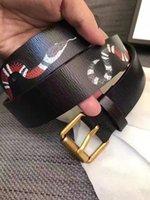 Wholesale Snake Waist Belt - New Arrivals Mens Belts Designer Genuine Leather Waist Belt Snake men's size 30-44 with Box Black
