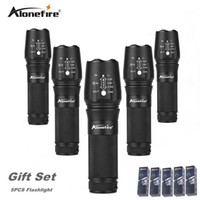 Wholesale Country Works - AloneFire E26 High Power XML T6 26650 zoom flashlight Tactical 18650 Led Flashlight export worldwide countries gift set 5pcs