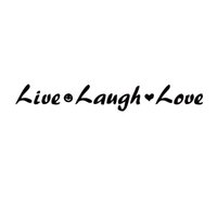 Wholesale live laugh love vinyl - Car Styling For Live Laugh Love Smiling Face Loving Heart Car Personality Funny Vinyl Decal Sticker Accessories Decorate