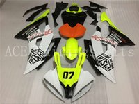 Wholesale Yamaha R6 Orange - 4 Free Gifts New Injection ABS Fairing kits 100% Fit for YAMAHA YZFR6 08 09 10 11 12 YZF R6 2008-2012 YZF600 white black orange and yellow