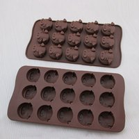 Wholesale Silicone Cupcake Soap - Chocolate Silicone Mold Cookies Ice Cube Mould Soap Cake Baking Mold Tray Flexible Moulds Cupcake Bake Tools