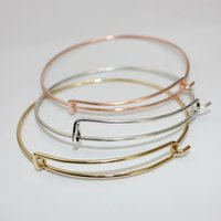 Wholesale Wire Bracelet Cuff - New fashion summer style brand charms wire bangle cuff love opening bracelet for charms or beading jewelry DIY wholesale