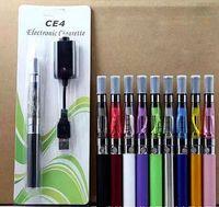 Wholesale E Health Cigarette Black - starter vape pens kit CE4 atomizer Electronic cigarette e cig kits 280mah battery blister case Clearomizer safe and health ecig instock