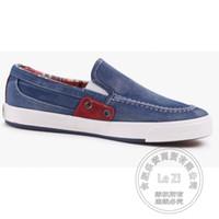 Wholesale Cheap Men Platform Shoes - 2017 Bucks Shoes Plain Solid Color Slip On Shoes Men Gumshoe Deodorant Outdoor Pedal China Cheap Walking Shoes Denim Platforms